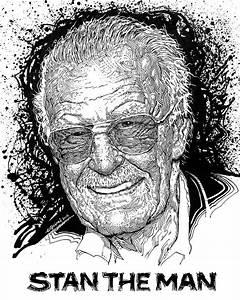Stan Lee - Timelapse Drawing www.facebook.com/eliquinnart ...