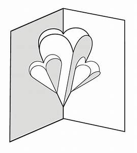 make a pop up card of hearts 12 steps With pop out heart card template