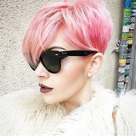 nice short pink hair ideas  young women short