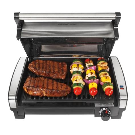 inside grill hamilton beach 25360 indoor flavor searing bbq grill ebay