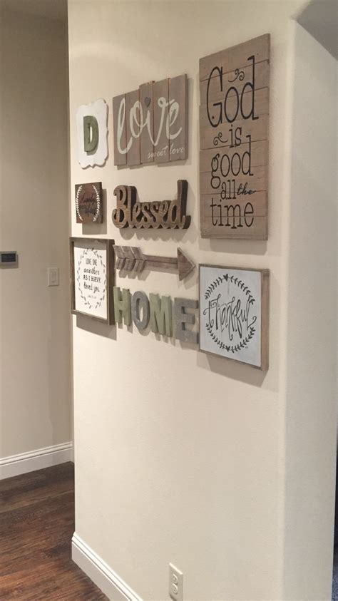 entryway wall decor my gallery wall found most everything at hobby