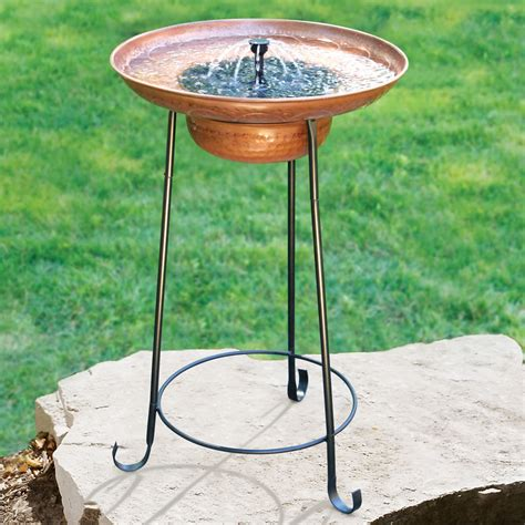 the solar fountain birdbath hammacher schlemmer