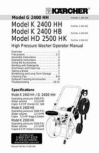 Karcher K 2400 Hb User Manual