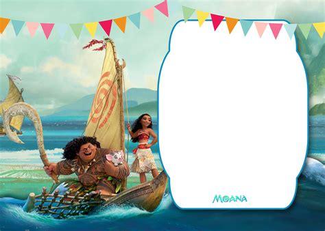 moana baby shower invitation template