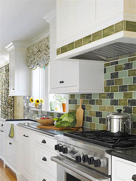 kitchen backsplash green white cottage kitchen ideas 2215