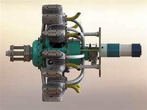 7 Cylinder Radial Engine 150cc 4 Stroke Petrol For Rc