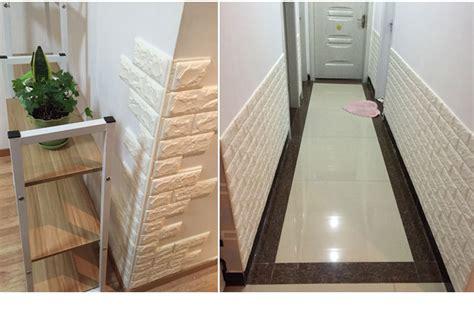 foam stone brick  adhesive wallpaper diy wall