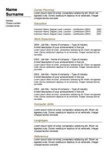 resume builder free classic resume 6 exles of resumes