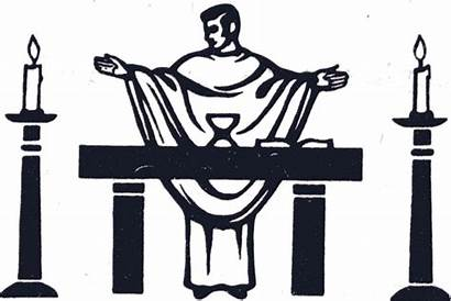 Mass Catholic Clipart Altar Priest Healing Cliparts