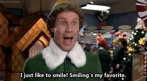 buddy the elf smiling is my favorite gif | WiffleGif