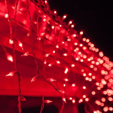 christmas icicle light  red icicle lights white wire