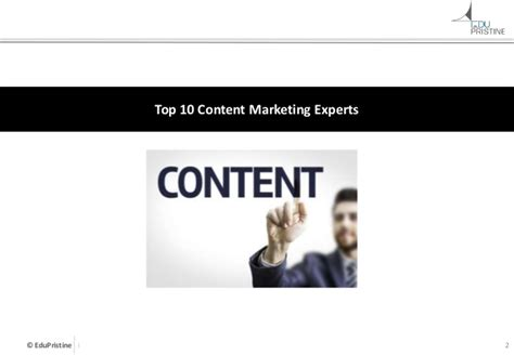 Marketing Experts by Top 10 Content Marketing Experts 2015
