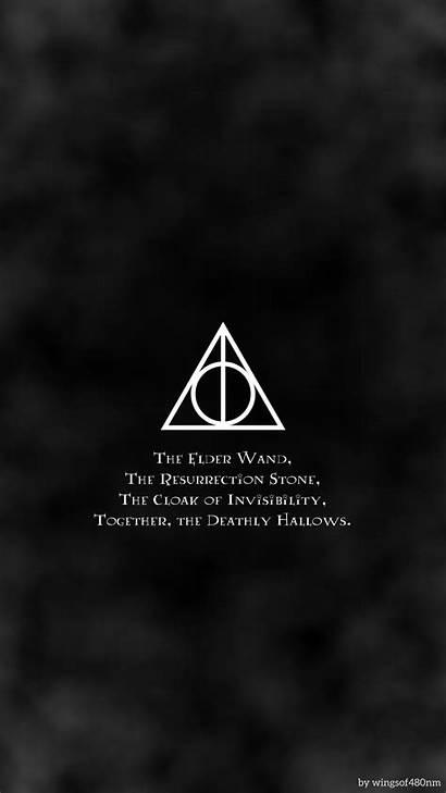 Deathly Hallows Symbol Potter Harry 4k