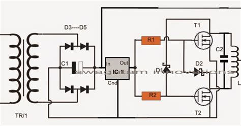 simple induction heater circuit hot plate cooker circuit