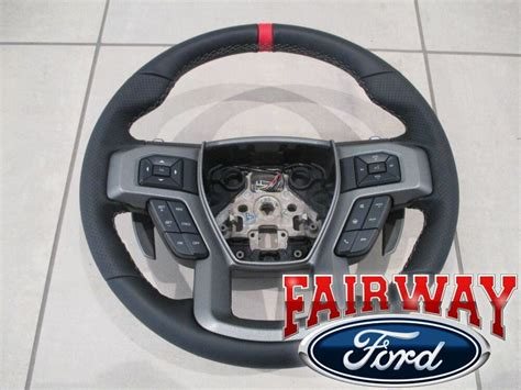 17 Thru 18 F-150 Oem Ford Leather W/ Red Accent Non-heat