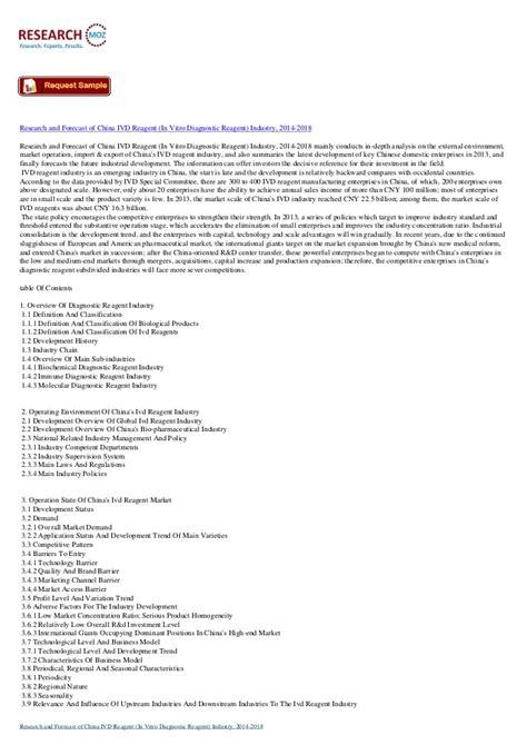 Research Forecast China Ivd Reagent Vitro