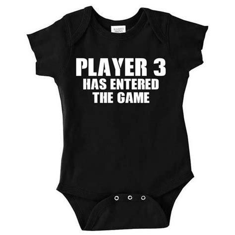 Player 3 Has Entered The Game Funny Baby Clothes Video