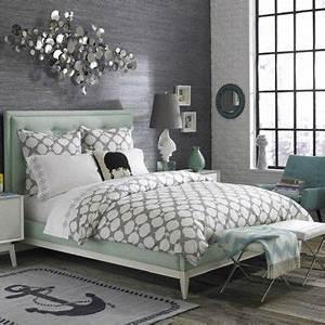 Graue Tapete Schlafzimmer : die besten 25 graue tapete ideen auf pinterest silberne ~ Michelbontemps.com Haus und Dekorationen