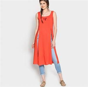 Perfect Chic Look Styles Jeans with Long Kurti u2013 Designers ...
