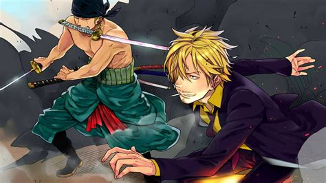 Anime One Piece Sanji Zoro Roronoa Wallpaper