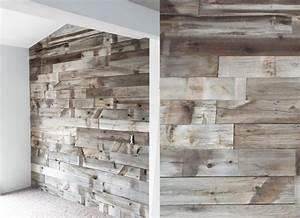 project 737 barn wood wall With barnwood plywood
