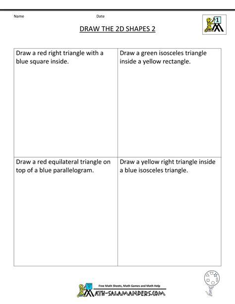 math 2d shape worksheets math worksheets polygons angles