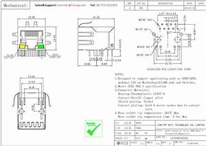 6605444 Serie Magnetic Rj45 Jack Lpjg0833ganl Gigabit Ethernet Schematic 10 Pin