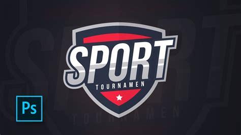 sports logo design  photoshop