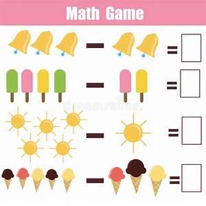 Bildande Lek För Matematik För Barn Vektor Illustrationer ...