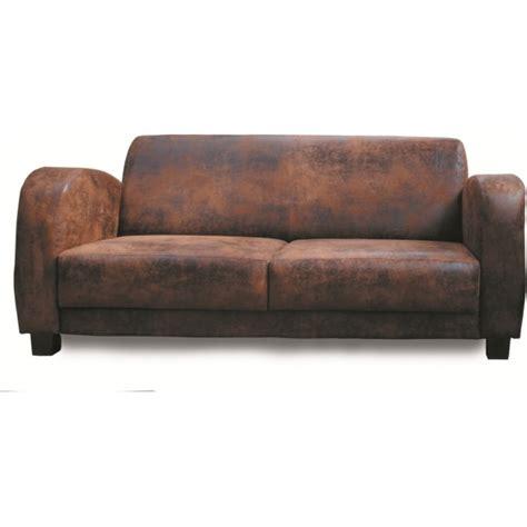 canapé cuir usé canape 3 places les meubles du chalet