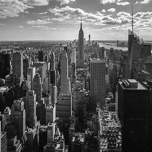 New York Skyline Black And White Wallpaper