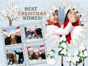 Christmas Photo Collage Templates Christmas Collage Card Add On Templates Download Free