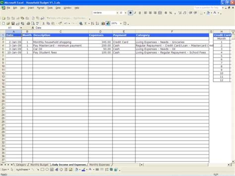 profit  expense spreadsheet spreadsheet templates