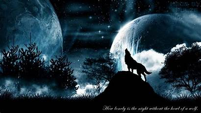 Wolf Howling Wallpapers Wolves Moon Howl Space