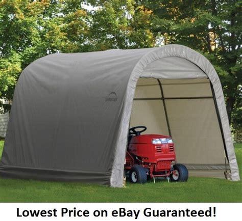 shelterlogic xx economy storage shed portable garage canopy ebay