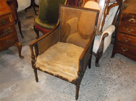 Edwardian Cane Bergere Armchair