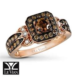 chocolate gold engagement rings jared le vian chocolate 3 4 ct tw ring 14k strawberry gold