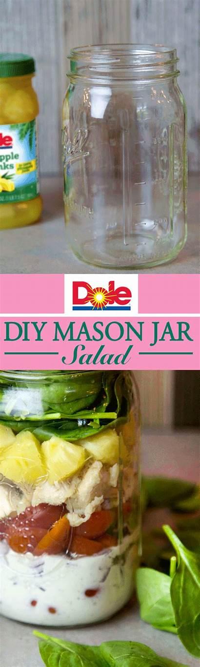Dole Salad Mason Pineapple Dressing Jar Cucumber