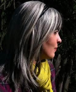 Charcoal Gray Hair Highlights