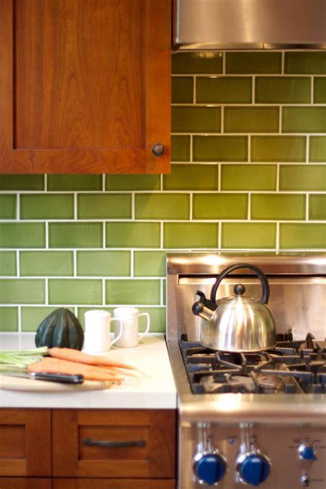 glass subway tile green tile design ideas