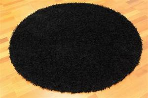 tapis rond 80 cm fancy noir trendcarpetfr With tapis rond 80 cm