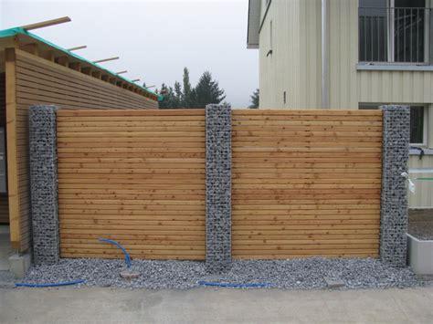 Gartenzaun Aus Beton by Garten Sichtschutz Gartenzaun Holz Und Beton 9