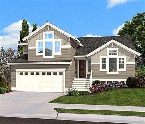 split level home plan for narrow lot 23444jd 1st floor