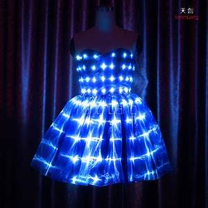 Sparkling Stage Show Clothes Illuminated Color Changeable