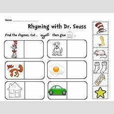Rhyming With The Cat Cut And Paste Activity  Activities, Kindergarten Printable Worksheets And