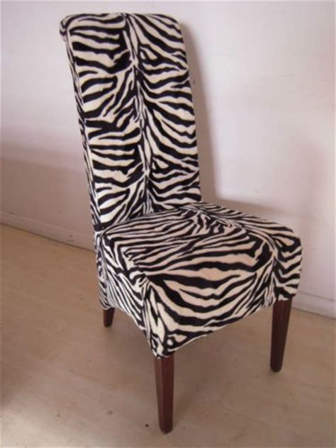 4 zebra print dining chairs set kitchen restaurant animal
