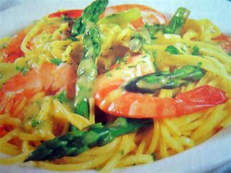 recette pates aux gambas recette de spaghettis aux gambas et aux asperges