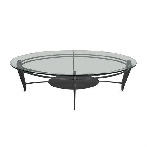 77% Off  Portica Portica White Glass Cocktail Table Tables