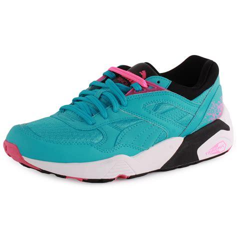light blue puma shoes puma trinomic r698 sport womens synthetic light blue
