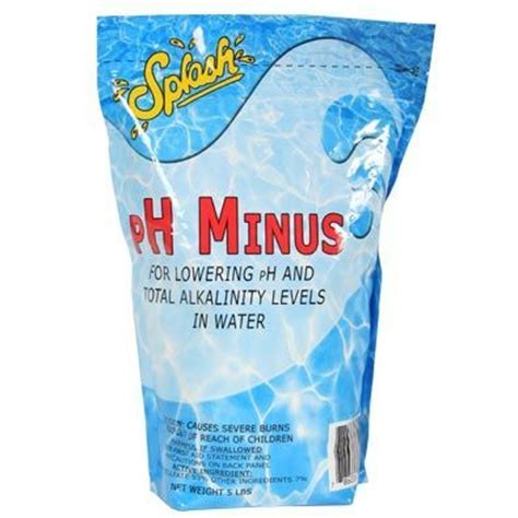 sodium bisulfate splash ph minus sodium bisulfate 5 pound pouch water treatment chemical supplier ice melt